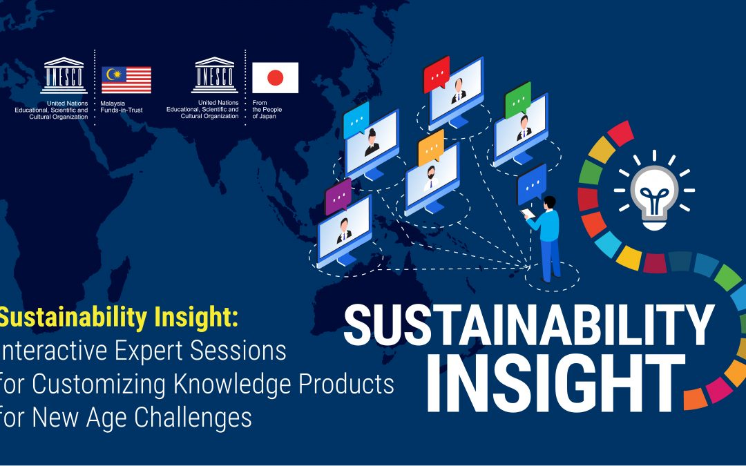 Sustainability Insight: Interactive Expert Sessions for Customizing Knowledge Products for New Age Challenges