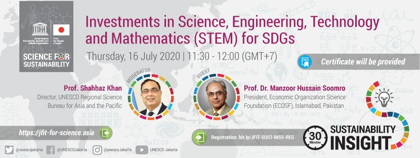 JFIT Sustainability Insight #5: Investments in Science, Engineering, Technology and Mathematics (STEM) for SDGs