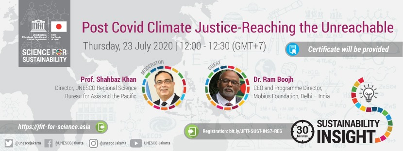 JFIT Sustainability Insight #7: Post Covid Climate Justice – reaching the unreachable!